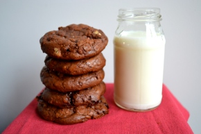 Chocolate toffee walnut cookies