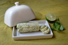Lime and coriander (cilantro) butter