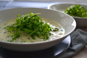 Jerusalem Artichoke and Rocket Soup