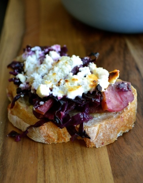 Baked Red Cabbage with Apple and Goat's Cheese